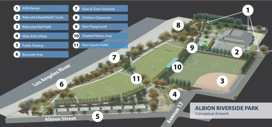 Park rendering via Los Angeles County