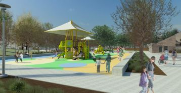 Playground rendering via Los Angeles County